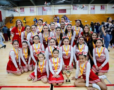 Middle school cheerleaders compete for city championship